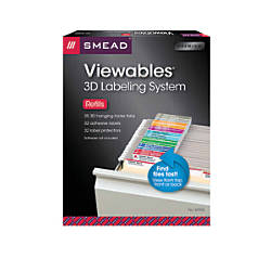 Smead Viewables Labeling System For Hanging