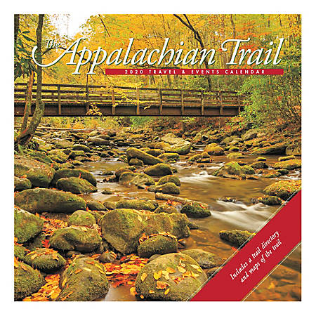 "Willow Creek Press Scenic Monthly Wall Calendar, 12"" x 12"", Appalachian Trail, January To December 2020"