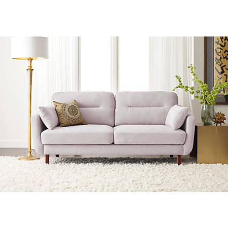 Serta Sierra Collection Sofa, Ivory/Chestnut