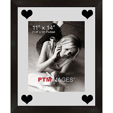 """PTM Images Photo Frame, Hearts, 13""""H x 1 1/4""""W x 16""""D, Black"""
