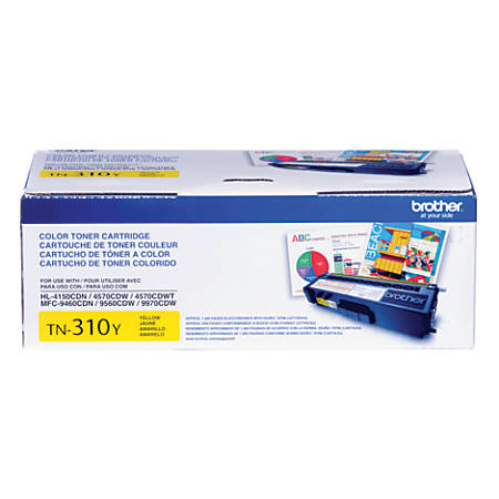 Brother® TN-310Y Yellow Toner Cartridge