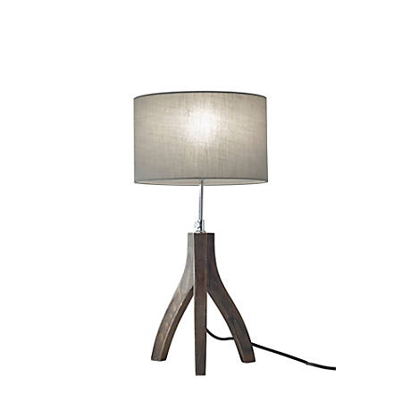 "Adesso® Sherwood Table Lamp, 25 3/4""H, Stone Gray Shade/Rustic Wash Black Base"