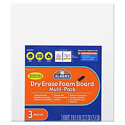 Elmers Dry Erase Foam Board White