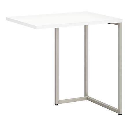 "kathy ireland® Office by Bush Business Furniture Method Desk Return, 30""W, White, Standard Delivery"