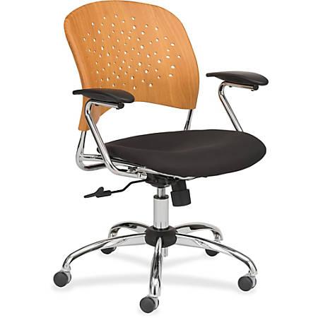 Safco® Reve Task Chair, Black/Natural