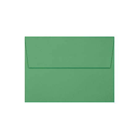 "LUX Invitation Envelopes With Peel & Press Closure, A7, 5 1/4"" x 7 1/4"", Holiday Green, Pack Of 50"