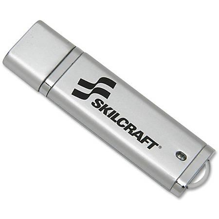 USB Flash Drive With 256-Bit AES Encryption, 2GB (AbilityOne 7045-01-558-4986)