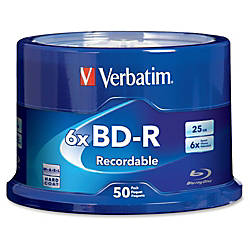Verbatim BD R 25GB 6X with