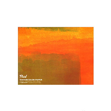 "Global Art Fluid Watercolor Block, 16"" x 20"", White"