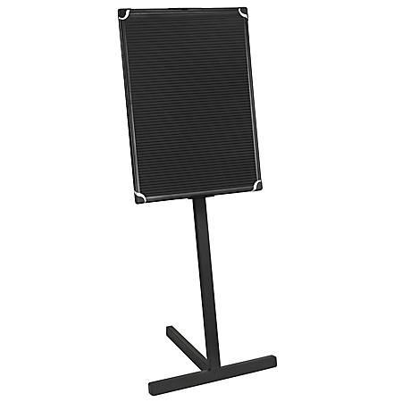 "MasterVision™ Standing Letter Board, 24"" x 36"", Black Plastic Frame"