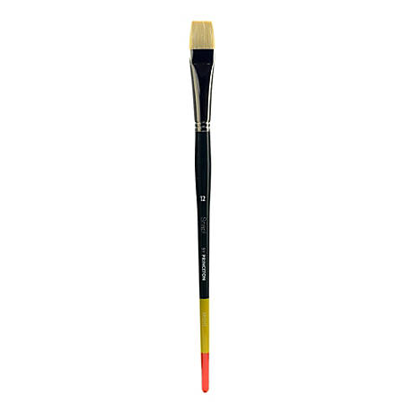 Princeton Snap Paint Brush, Size 12, Bright Bristle, Synthetic, Multicolor