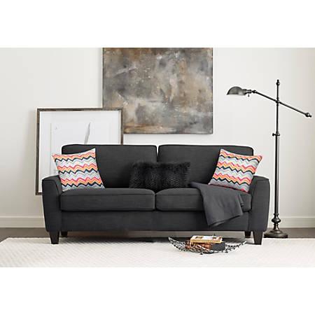 "Serta Astoria Deep-Seating Sofa, 73"", Charcoal/Espresso"