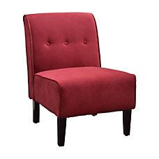 Linon Home Coco Accent Chair RedDark