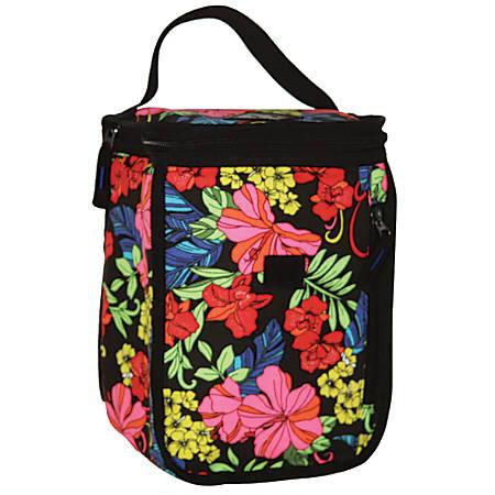 "Caliware Floral Lunch Bag, 9 1/2""H x 6""W x 6 1/2""D, Multicolor"