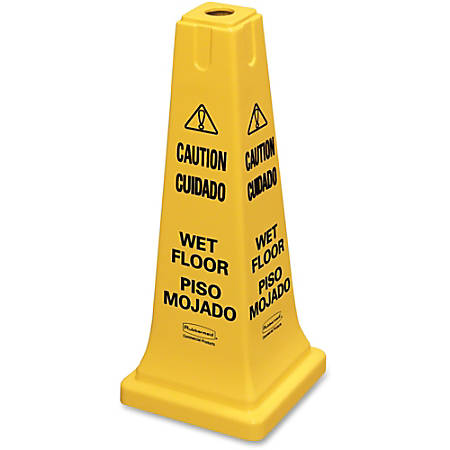 "Multilingual ""Caution"" Safety Cone"