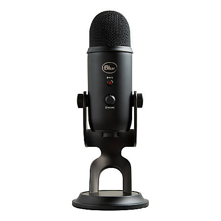 Blue Microphones Yeti USB Microphone - Blackout - Ultimate USB microphone - 3 condenser capsules - 4 recording patterns - 20Hz - 20kHz