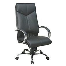 Office Star Deluxe High Back Leather