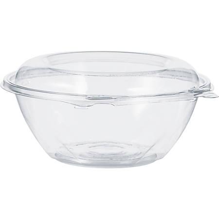 "Dart SafeSeal Bowls - 24 fl oz 7"" Diameter Bowl - Polyethylene Terephthalate (PET) - Clear - 150 Piece(s) / Carton"