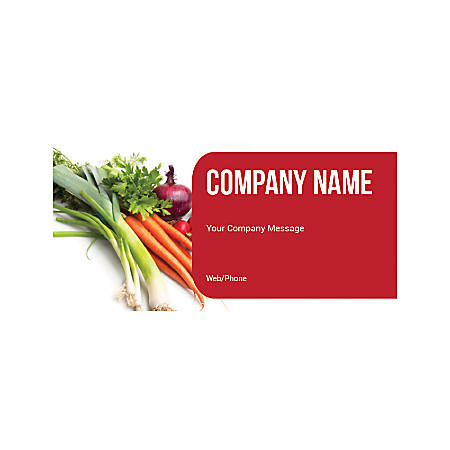 Magnetic Sign, Fresh Vegetables, Horizontal