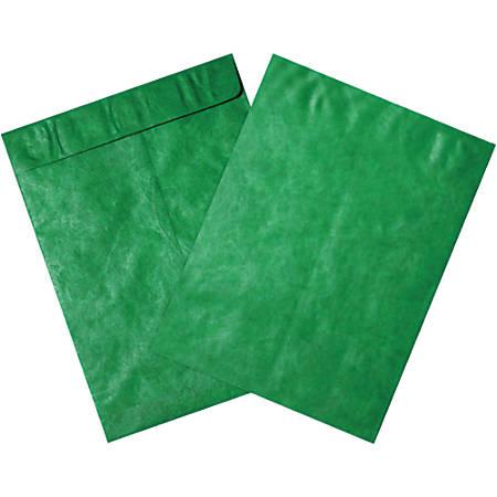 """Office Depot® Brand Tyvek® Envelopes, 9"""" x 12"""", Green, Pack Of 100"""