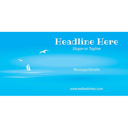 Custom Horizontal Banner, Blue Beach