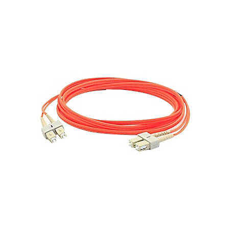 AddOn 4m SC (Male) to SC (Male) Orange OM1 Duplex Fiber OFNR (Riser-Rated) Patch Cable