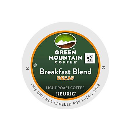 Green Mountain Coffee® Breakfast Blend Decaffeinated Coffee K-Cups®, Case Of 96