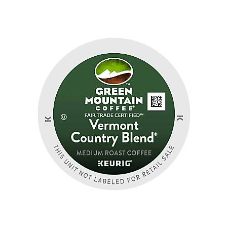 Green Mountain Coffee® Vermont Country Blend® Coffee Single-Serve K-Cup®, 24 Per Carton, Carton Of 4