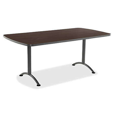 Iceberg IndestrucTable TOO Utility Table Top, Rectangle, Walnut