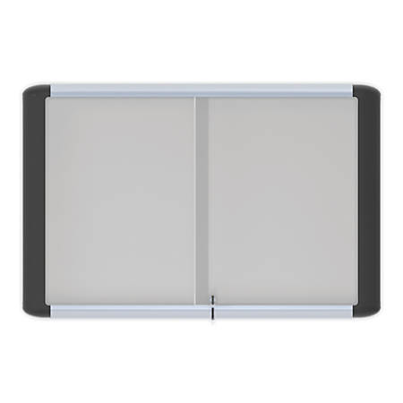 "MasterVision™ Platinum Pure Magnetic Dry-Erase Enclosed Board, Sliding Door, White, 48"" x 72"""