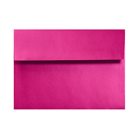 """LUX Invitation Envelopes With Moisture Closure, A1, 3 5/8"""" x 5 1/8"""", Hottie Pink, Pack Of 50"""