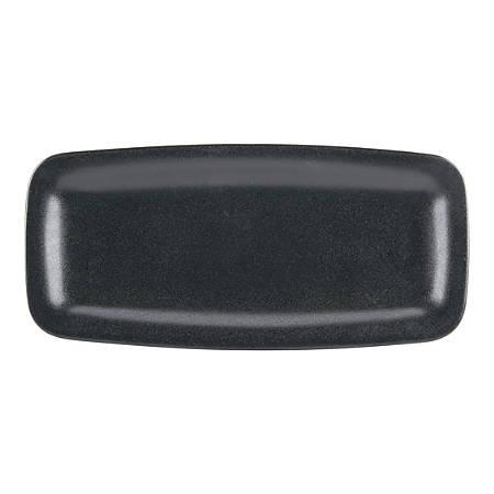 "Foundry Rectangular China Trays, 13 7/8"" x 6 1/2"", Black, Pack Of 6 Trays"