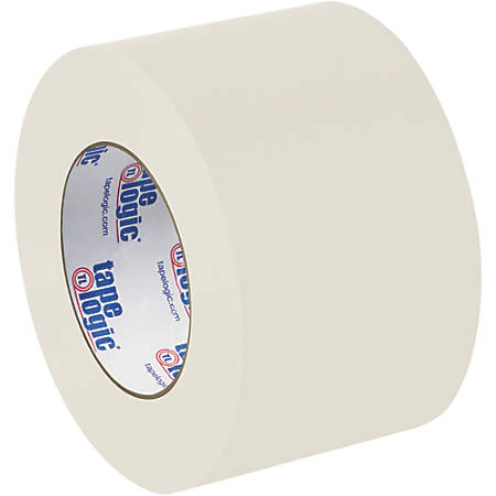 "Tape Logic® Flatback Tape, 3"" Core, 3"" x 60 Yd., Natural White, Case Of 6"
