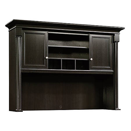Sauder® Palladia Collection Credenza Hutch, Wind Oak