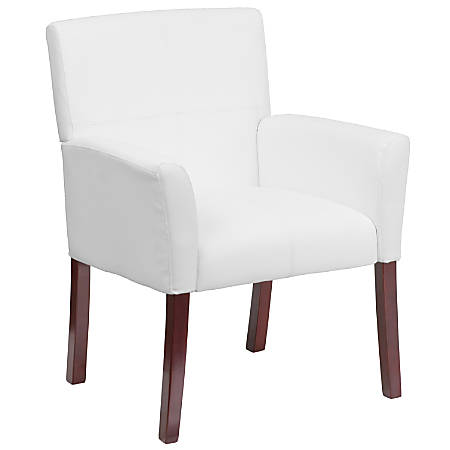 Flash Furniture Leathersoft Side/Reception Chair, White