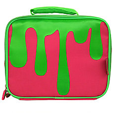 Nickelodeon Slime Insulated Lunch Bag PinkGreen
