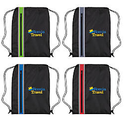 Vertical Zipper Drawstring Bags 17 12