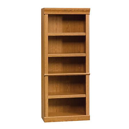 Sauder® Orchard Hills 5-Shelf Library Bookcase, Carolina Oak