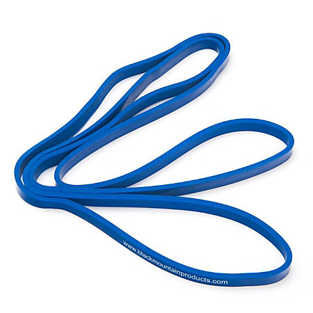 """Black Mountain Products Strength Loop Resistance Band, 1/2"""" Thick, Blue"""