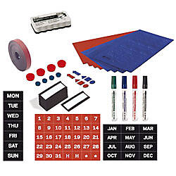 MasterVision Basic Magnetic Planning Accessory Kit