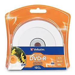 Verbatim DVD R 47GB 16X White