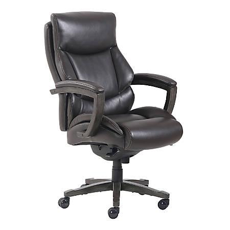 Thomasville® Edinger Bonded Leather Big & Tall High-Back Chair, Brown/Dark Brown