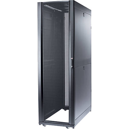 "APC by Schneider Electric NetShelter SX 48U 600mm Wide x 1200mm Deep Enclosure - 48U Rack Height x 19"" Rack Width - Black - 2250 lb Dynamic/Rolling Weight Capacity - 3000 lb Static/Stationary Weight Capacity"