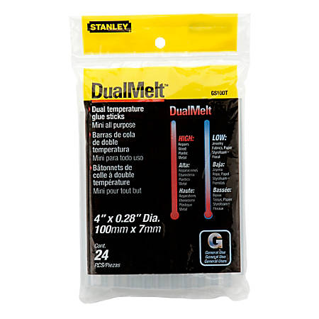 Stanley® DualMelt All-Purpose Mini Glue Sticks, Pack Of 24