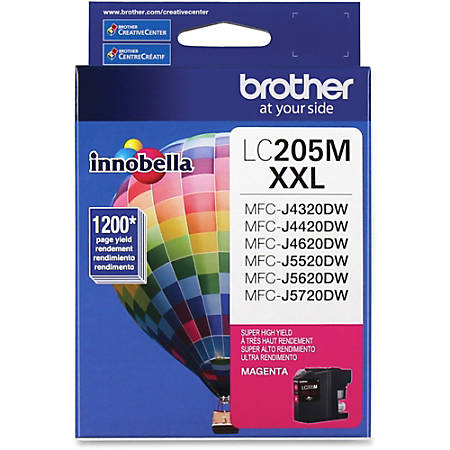 Brother® Extra-High-Yield Ink Cartridge, Magenta, LC205M