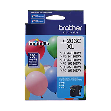 Brother® High-Yield Ink Cartridge, Cyan, LC203CS