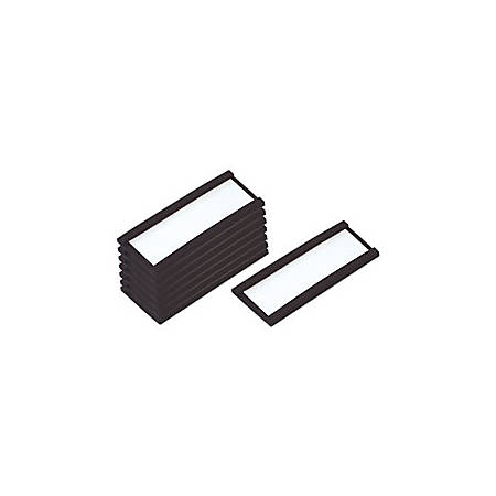 """MasterVision® Magnetic Data Cards, With Blank Inserts, 3/4""""H x 2-3/4""""W, Pack Of 10"""