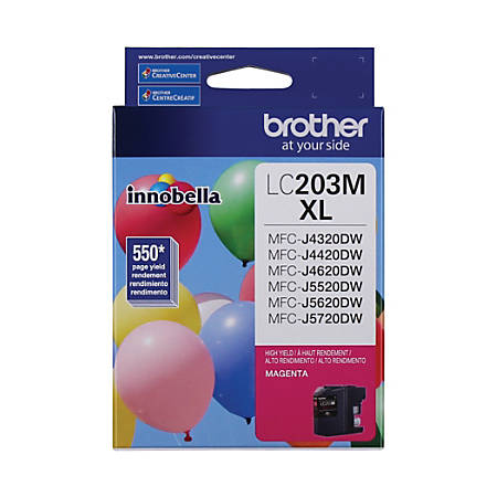 Brother® High-Yield Ink Cartridge, Magenta, LC203MS