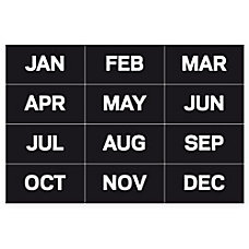 MasterVision Magnetic Months Of The Year