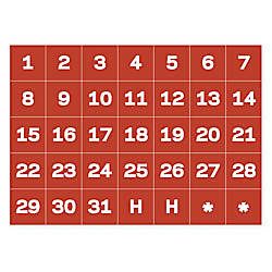 MasterVision Magnetic Calendar Dates 1 H